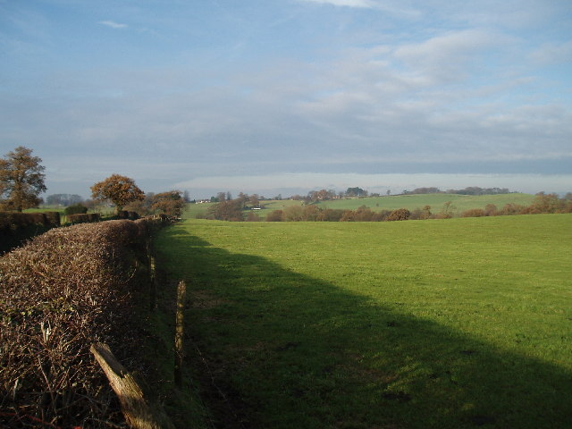 Looking north towards Underbank Farm