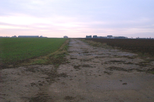 Farm Track using part of disused 2nd World War Airfield