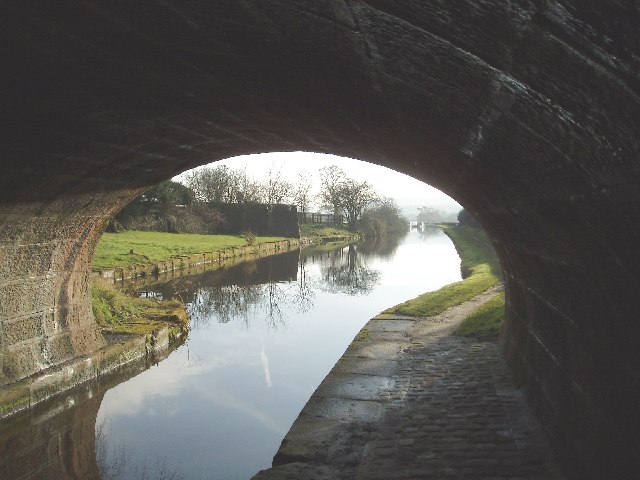 The A54 road bridge over the Macclesfield canal