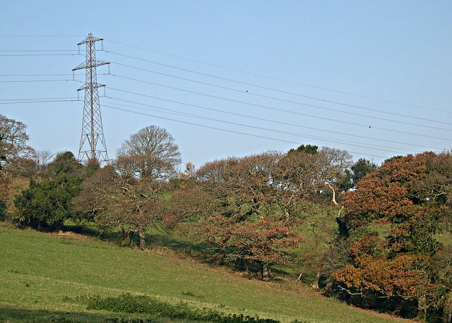 Electricity Pylon above the Valley