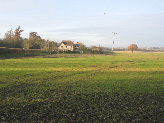 Farmland and cottages, Madingley, Cambs