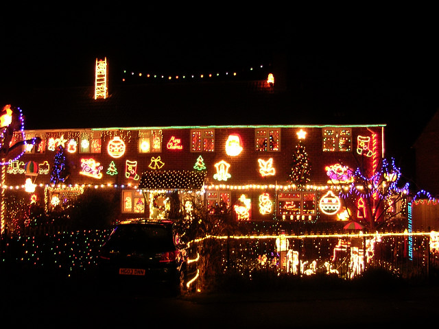 Christmas lights, Fairlie Park, Ringwood