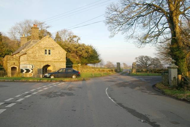 Entrance to Pentillie Castle, near Saltash