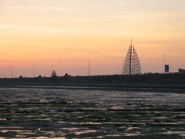 Tipner Sail at sunset, Portsmouth