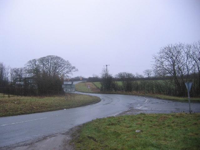 Kirkland turnoff from A5086.
