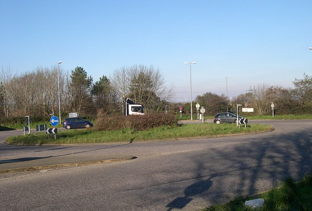 Roundabout on the A380 at Threemilestone