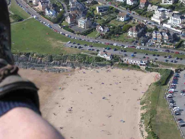 Woolacombe Beach from Paraglider
