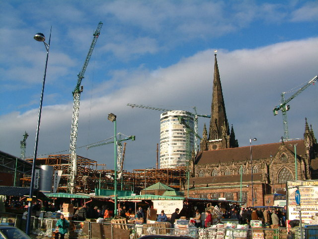 Construction of the new Bullring
