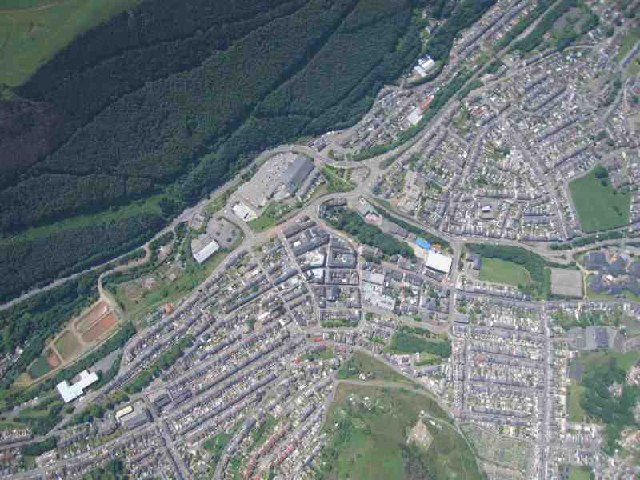 Abertillery from a Paraglider