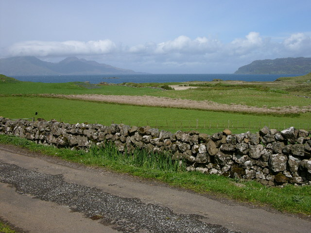 Isle of Muck - the track to Gallanach