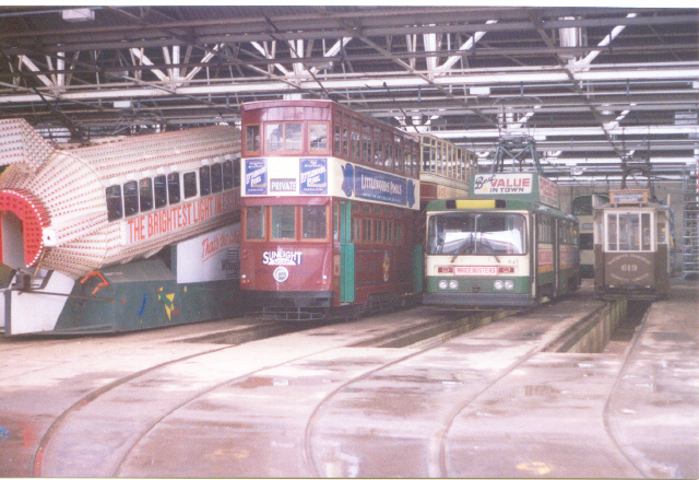 Blackpool tram depot