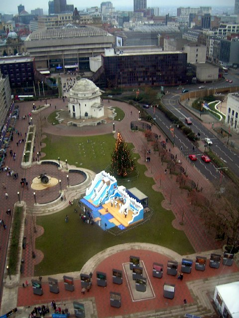 Centenary Square from the Birmingham Eye