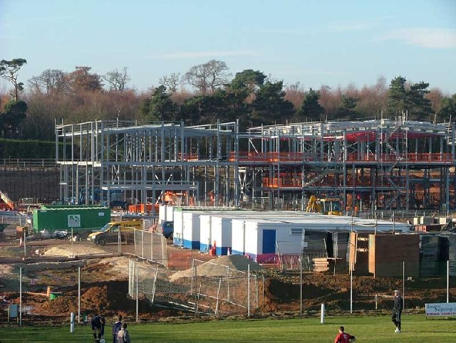 Construction Site for The Oaks High School Retford