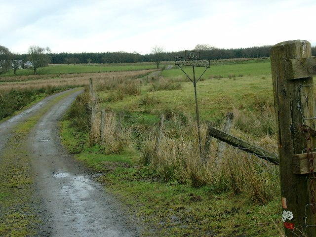 Low Overmuir Farm road end