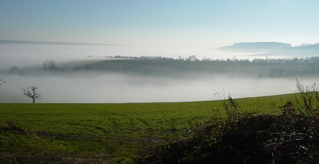 View from the A29 into the Arun Valley