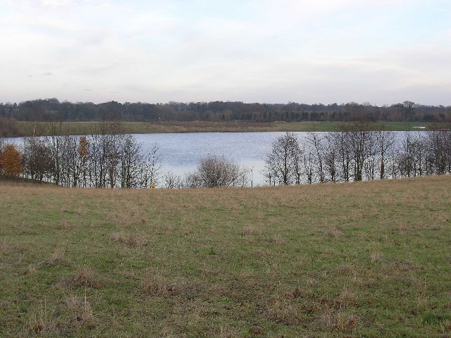 Flooded gravel quarry near Cleasby.