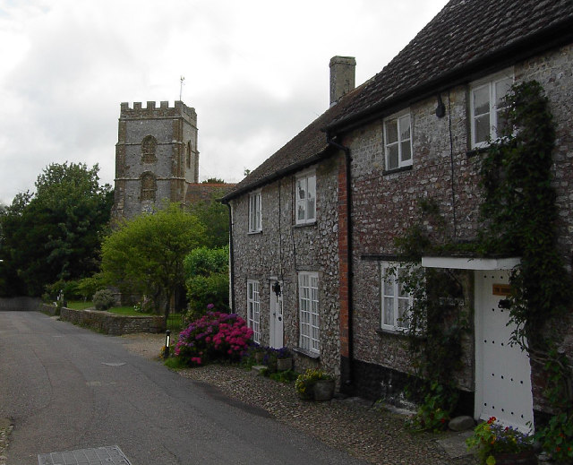 Hawkchurch Church and Cottages