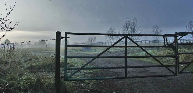 Farm entrance near Theobalds Manor, Bulls Cross