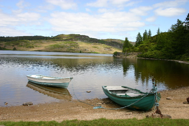 Fishing Boats on Loch Ordie