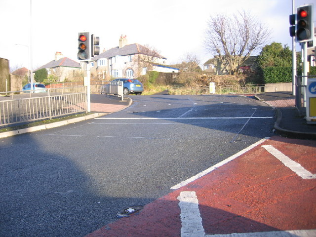 Whitehaven to ring road traffic lights.