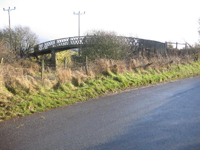 Footbridge over old railway route.