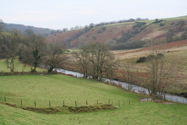 Withypoole and Hawkridge: the Barle below Landacre Bridge