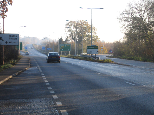 Huntingdon Road approach to Cambridge