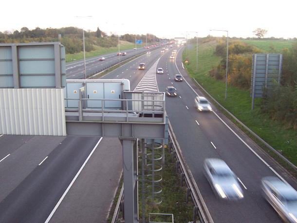 M1 at Junction 21a