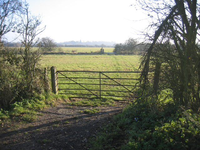Farmland with farm gate, Girton, Cambs