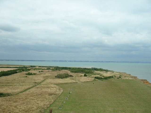 The view north from the top of Naze Tower