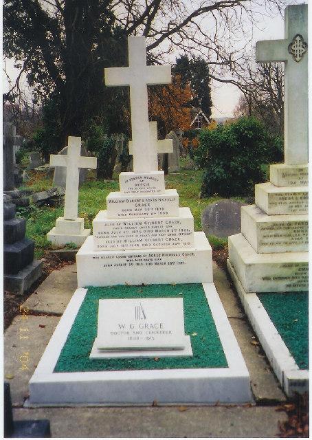 Grave of W.G.Grace, Beckenham Cemetery, Beckenham