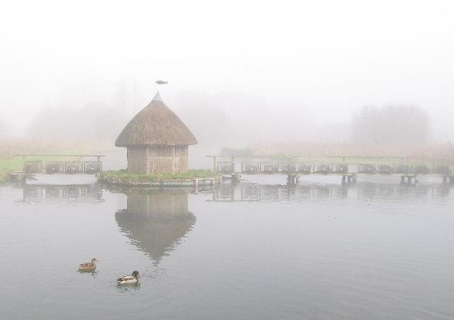 Fishing Hut on the RiverTest, Longstock, near Andover.