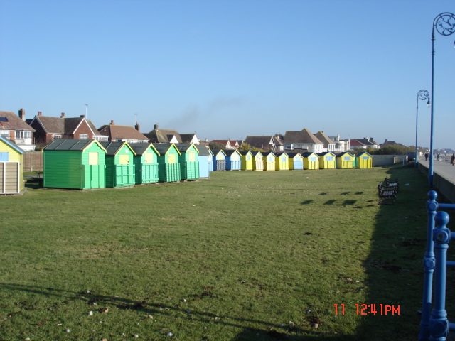 Beach huts by Felpham seafront