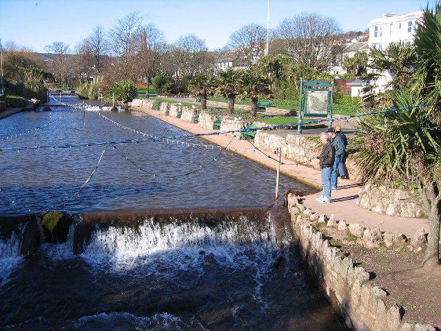 Weir on Dawlish Water, Dawlish, Devon