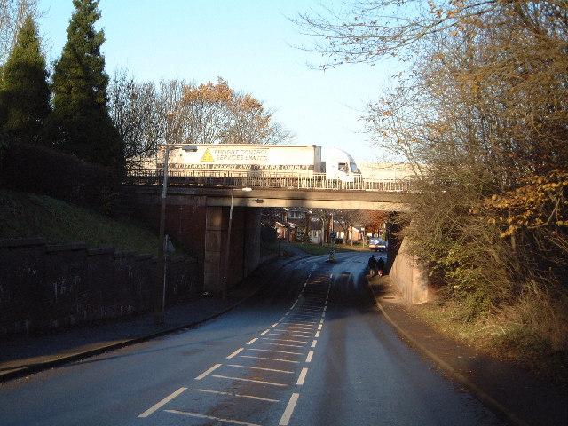 M6 over Burton Manor Lane