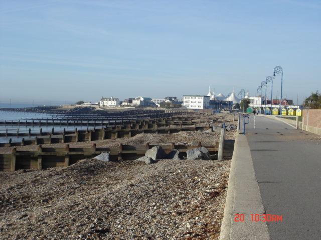 Felpham seafront looking west with Butlins in the background