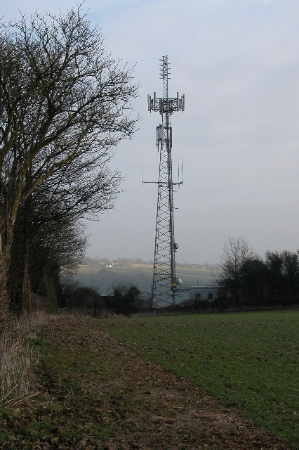 Mobile phone mast near Guiting Power