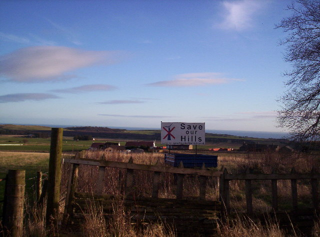 Farmland around Brae Cottages