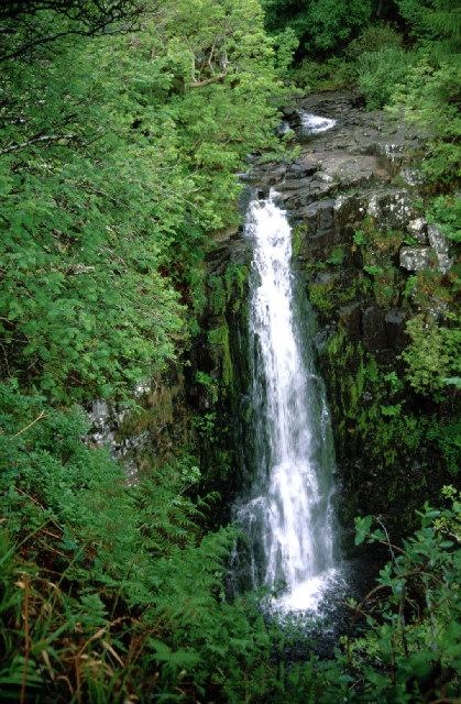 Eas a' Chrannaig or Glenashdale falls.