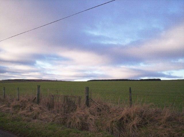 Looking up Hill of Garvock from near Longleys