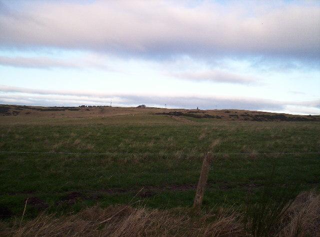 Looking up Hill of Garvock