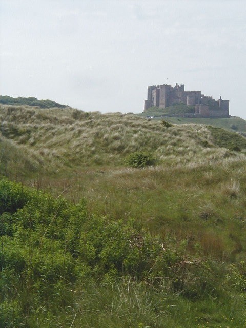 The Dunes and Bamburgh Castle