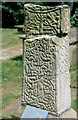 SJ9076 : Saxon cross, Prestbury churchyard. by Peter Ward