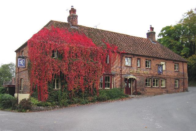 The White Lion Pub, Wherwell, near Andover.