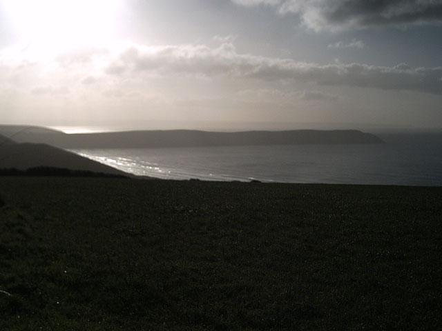 View of Baggy Point from Sandy Lane