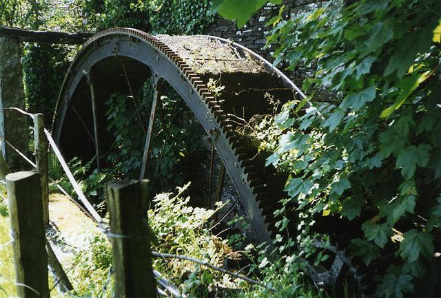 North Hill: waterwheel at Stonaford