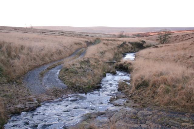 Ford and footbridge, Rushy Clough