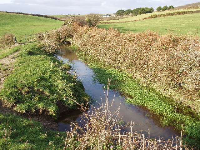 Stream in fields between Treave and Rissick
