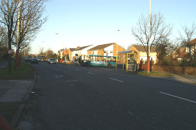 Buses on & entering Liverpool Road at Orchard Lane