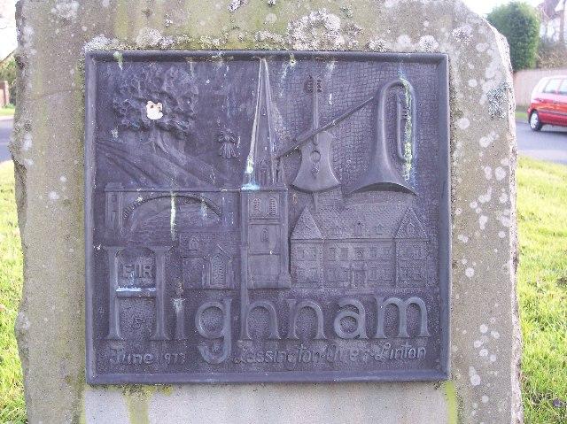 Highnam Village Silver Jubilee Plaque